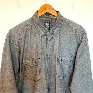 Billabong Men Size L Shirt Chambray Button Up